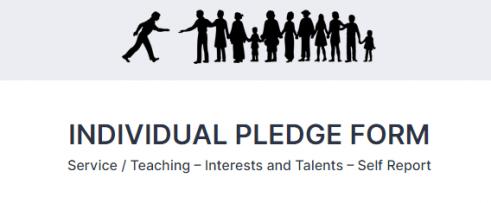 Individual Pledge Form